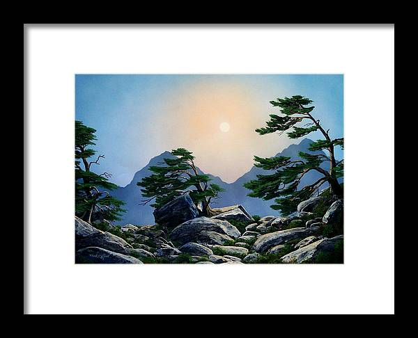 Timberline Guardians Framed Print featuring the painting Timberline Guardians by Frank Wilson