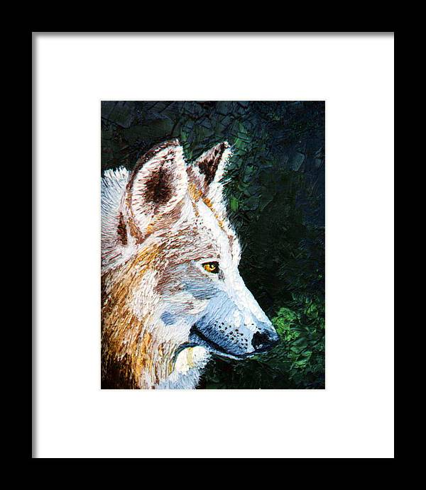 Timber Framed Print featuring the painting Timberwolf by Stan Hamilton