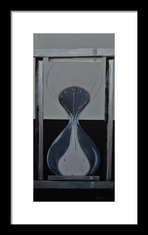 Abstract Framed Print featuring the painting Time After Time by Mike Parsons