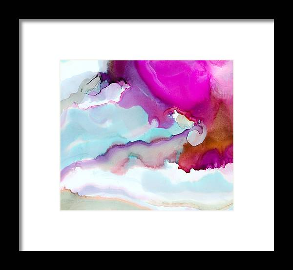 Abstract Framed Print featuring the painting Time Flies - B - by Sandy Sandy