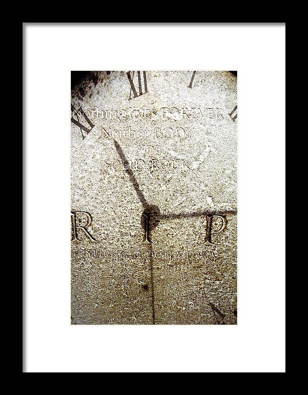 Jez C Self Framed Print featuring the photograph Time For Change by Jez C Self