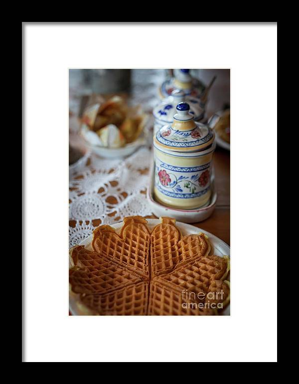 Waffle Framed Print featuring the photograph Time For Waffle by Arild Lilleboe