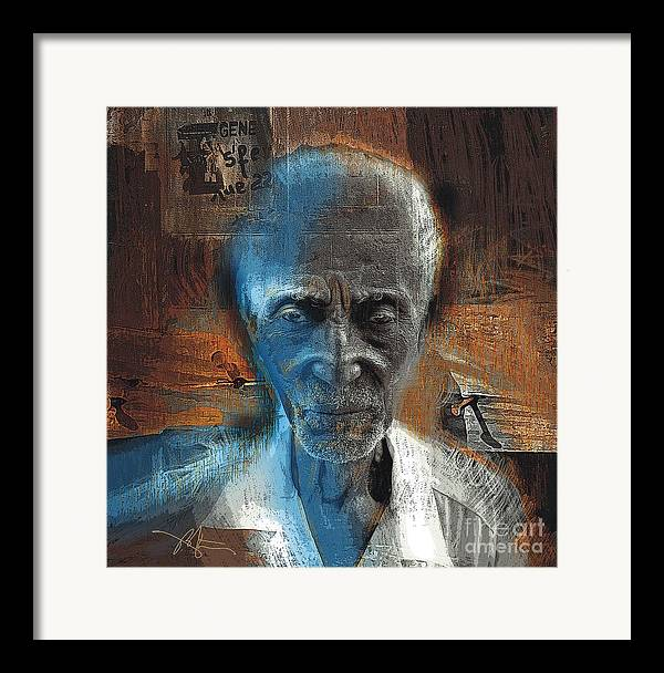 African American Framed Print featuring the painting Time Goes By by Bob Salo