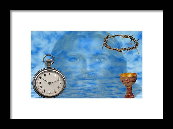 Christian Art Framed Print featuring the digital art Time Is Ticking by Evelyn Patrick