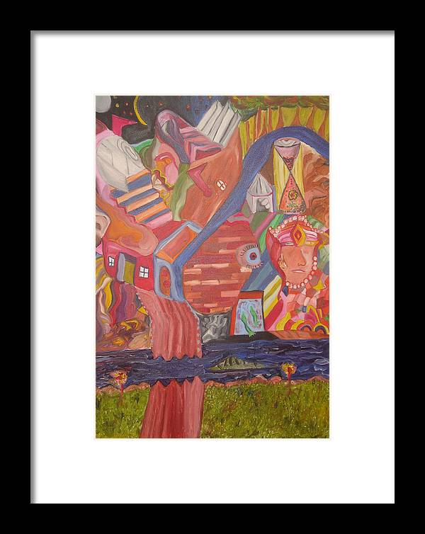 Framed Print featuring the painting Time by Joseph Arico