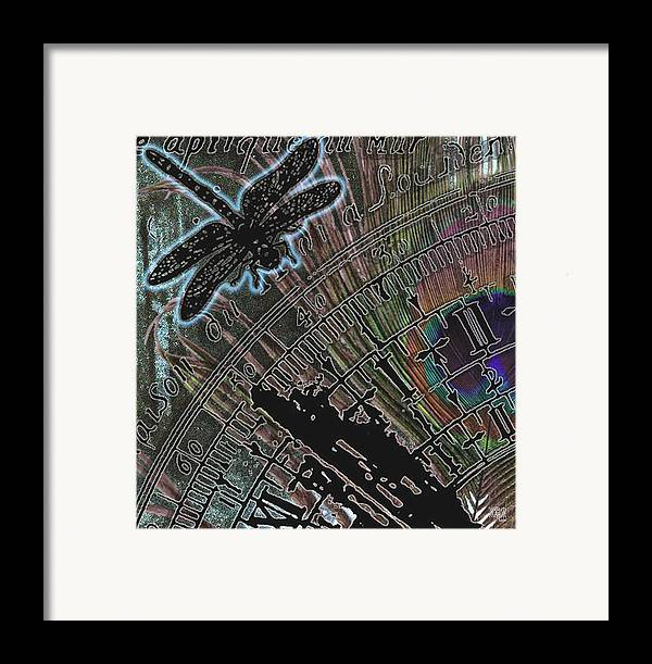 Digital Framed Print featuring the digital art Time by Michele Caporaso