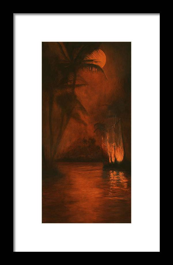 Palm Framed Print featuring the painting Time Of Change by Paulo Sabado
