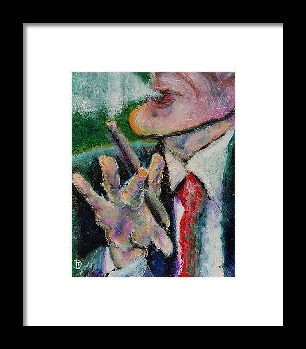 Man Framed Print featuring the painting Time Out by Dennis Tawes