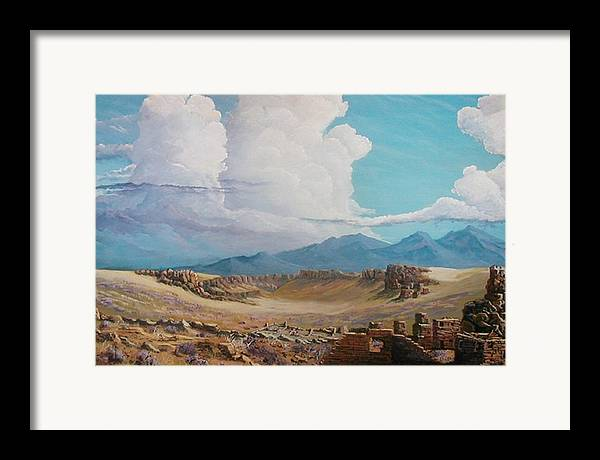 Landscape Framed Print featuring the painting Time Stands Still by John Wise