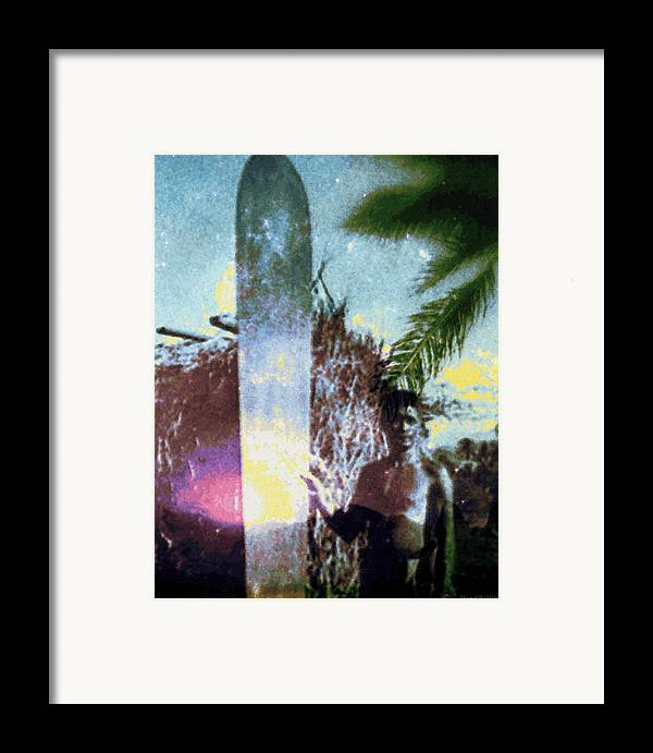 Tropical Interior Design Framed Print featuring the photograph Time Surfer by Kenneth Grzesik