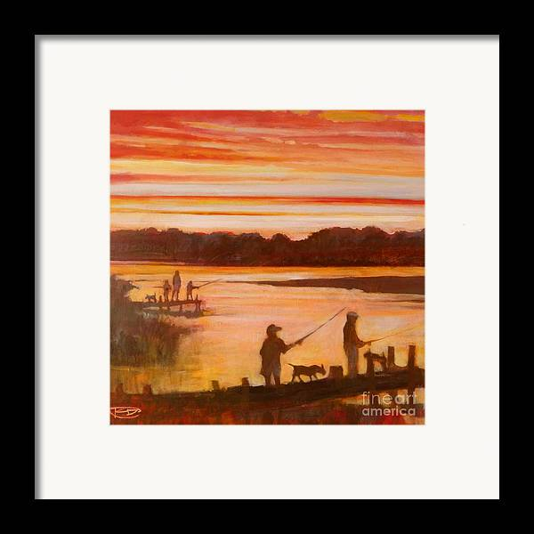Fishing Framed Print featuring the painting Time To Go Home by Kip Decker