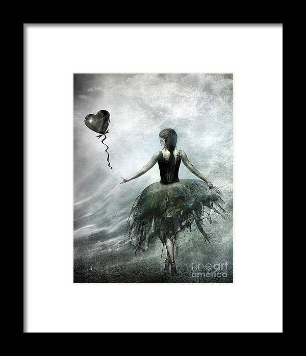 Ballet Framed Print featuring the painting Time To Let Go by Jacky Gerritsen