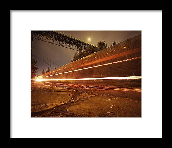 Nature Framed Print featuring the photograph Time Train by Benjamin Garvey