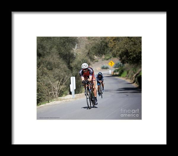 Tour Of Murrieta Framed Print featuring the photograph Time Trial 10 by Dusty Wynne
