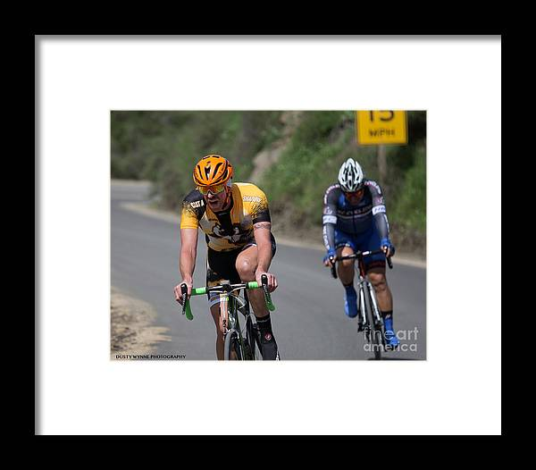 Tour Of Murrieta Framed Print featuring the photograph Time Trial 15 by Dusty Wynne
