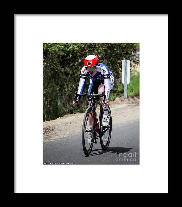 Tour Of Murrieta Framed Print featuring the photograph Time Trial 24 by Dusty Wynne