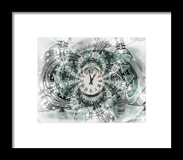 Clock Framed Print featuring the digital art Time Warp by Chuck Brittenham