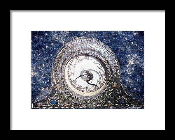 Clock Framed Print featuring the painting Time Warp by RC DeWinter