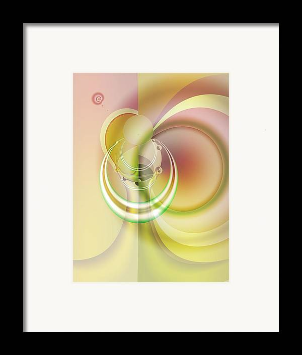 Fractal Framed Print featuring the digital art Time Warp Revisited by Frederic Durville