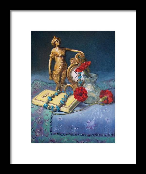 Realism Framed Print featuring the painting Timekeeper by Donelli DiMaria