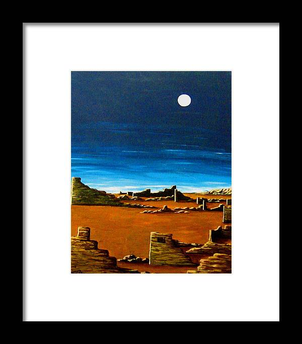 Anasazi Framed Print featuring the painting Timeless by Diana Dearen