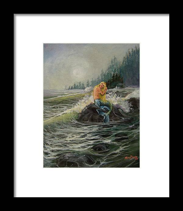 Sea Framed Print featuring the painting Timeless by Mona Davis