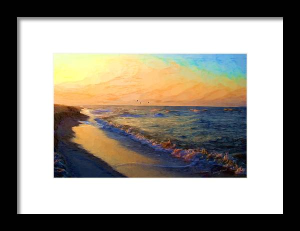 Landscape Framed Print featuring the painting Timeless by Shirley Dawson