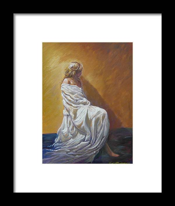 Framed Print featuring the painting Timeless by Tomas OMaoldomhnaigh