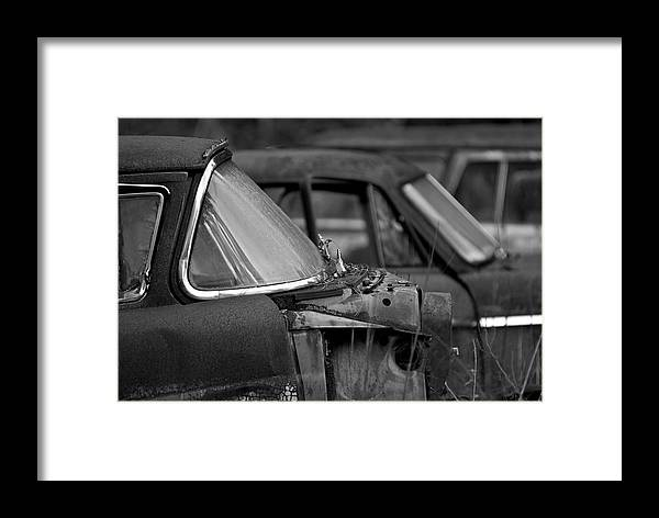 Black And White Photography Framed Print featuring the photograph Times Past by Wayne Denmark