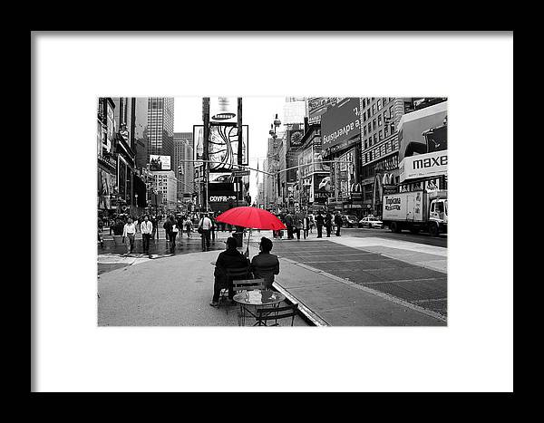 Times Square Framed Print featuring the photograph Times Square 5 by Andrew Fare