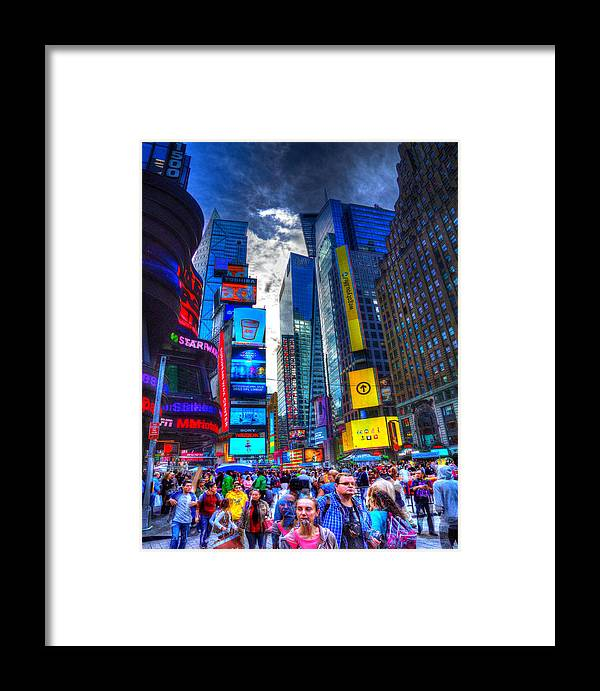 Nyc Framed Print featuring the photograph Times Square 7453 by Jeff Stallard