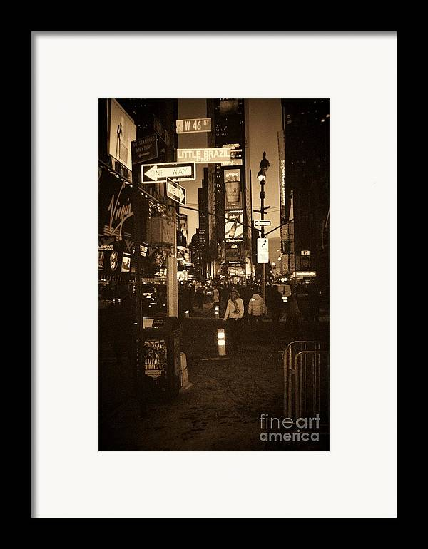 New York Framed Print featuring the photograph Times Square by Debbi Granruth