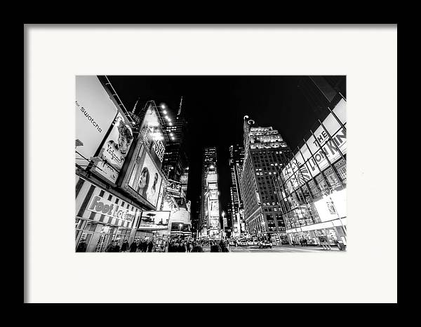 Times Square Framed Print featuring the photograph Times Square Don't Shine As Bright As You by Ariane Moshayedi