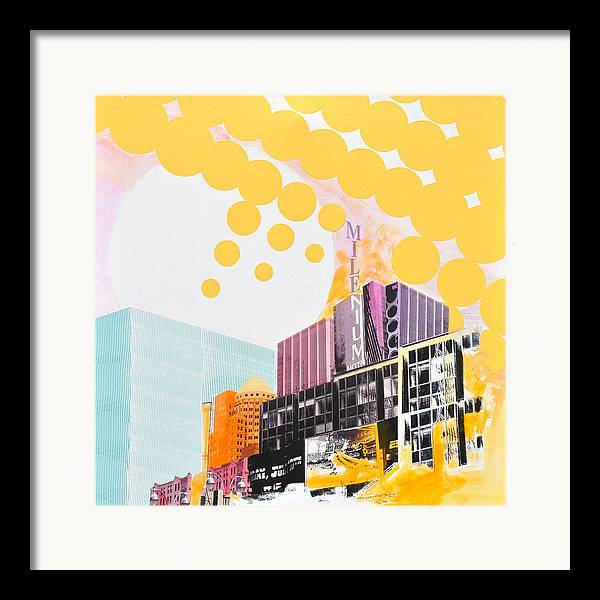 Ny Framed Print featuring the painting Times Square Milenium Hotel by Jean Pierre Rousselet
