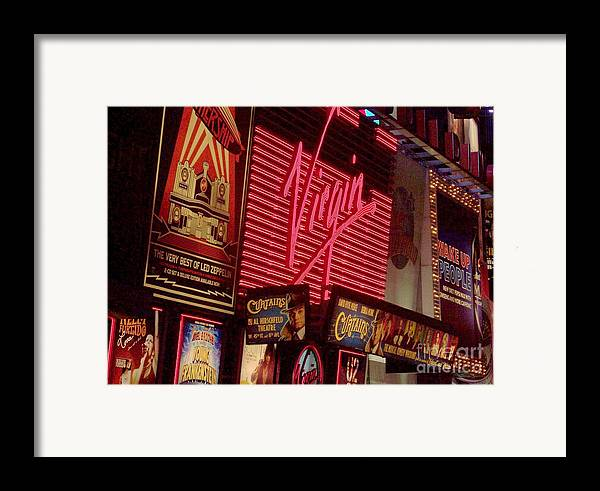 Times Square Framed Print featuring the photograph Times Square Night by Debbi Granruth