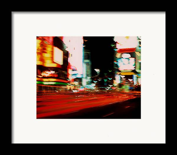 Light Framed Print featuring the photograph Times Square Painted by Brad Rickerby