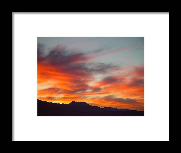 Sunrise Framed Print featuring the painting Timponogos Sunrise by Derek Nielsen