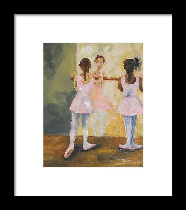 Dancer Framed Print featuring the painting Tiny Dancers by Torrie Smiley