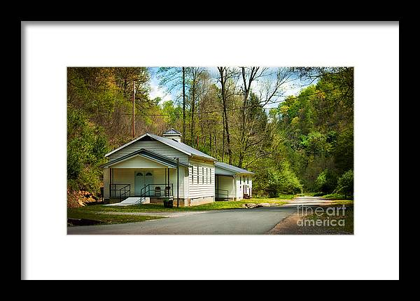 Baptist Framed Print featuring the photograph Tip Top Baptist Church by Lena Auxier