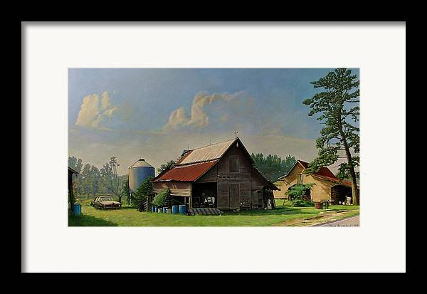 Doug Strickland Framed Print featuring the painting Tired And Retired by Doug Strickland