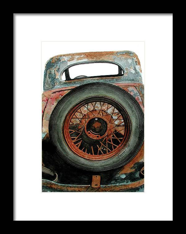Car Framed Print featuring the painting Tired by Ferrel Cordle