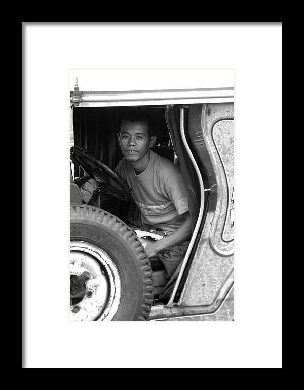 Jez C Self Framed Print featuring the photograph Tired Of Driving But I Have To Carry On by Jez C Self