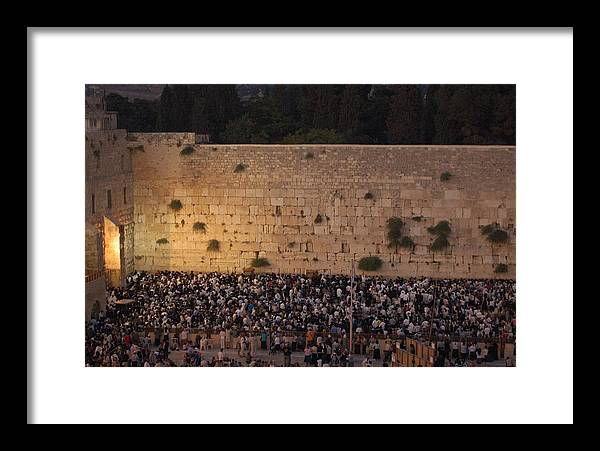 Tisha B'av Framed Print featuring the photograph Tisha B'av At The Kotel by Susan Heller