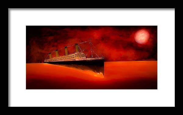 Titanic Framed Print featuring the painting Titanic 6 by Barry Knauff