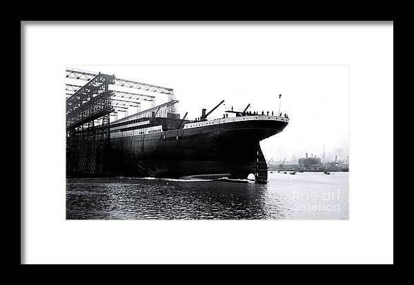 Titanic Framed Print featuring the photograph Titanic Being Launched by The Titanic Project