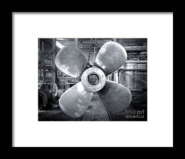 Titanic Framed Print featuring the photograph Titanic's Propellers by The Titanic Project