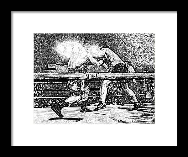 Boxing Framed Print featuring the photograph Titans Of The Ring by David Lee Thompson