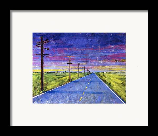 Road Framed Print featuring the painting To Be With You by Rollin Kocsis
