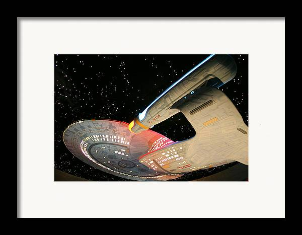 Spaceship Framed Print featuring the photograph To Boldly Go by Kristin Elmquist