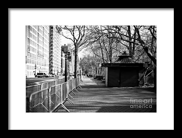 To Central Park West Framed Print featuring the photograph To Central Park West by John Rizzuto